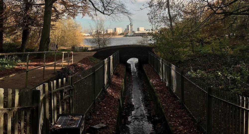 Where the Titford feeder joins Edgbaston Reservoir