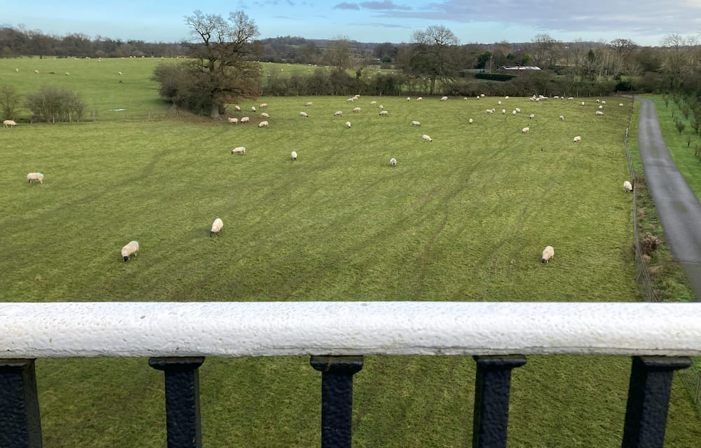 View of the Warwickshire countryside from the Edstone Aqueduct
