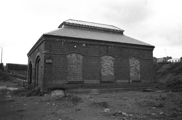 Galton Valley Pumping Station being restored in 1985