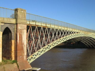 View of the Mythe Bridge to the north east