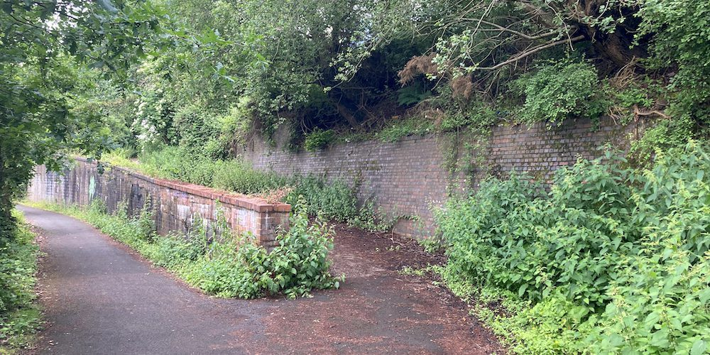 Remains of the Sandwell Park Colliery railway sidings
