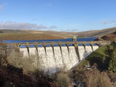Craig Goch dam and reservoir in the Elan Valley