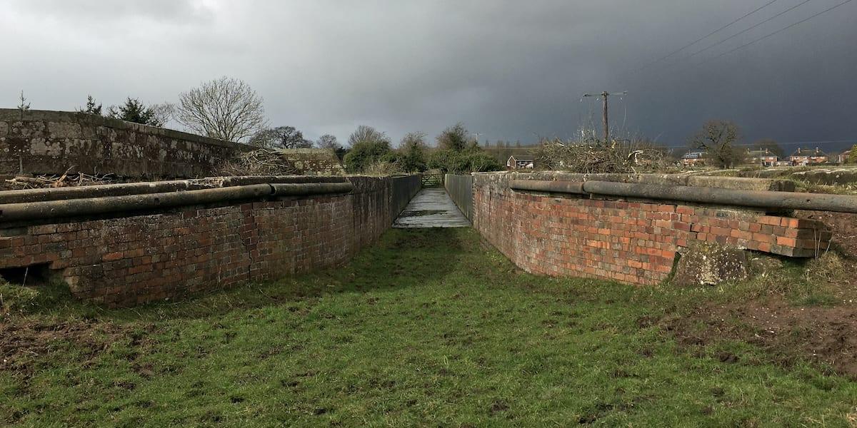 Western entrance to the Longdon-on-Tern Aqueduct
