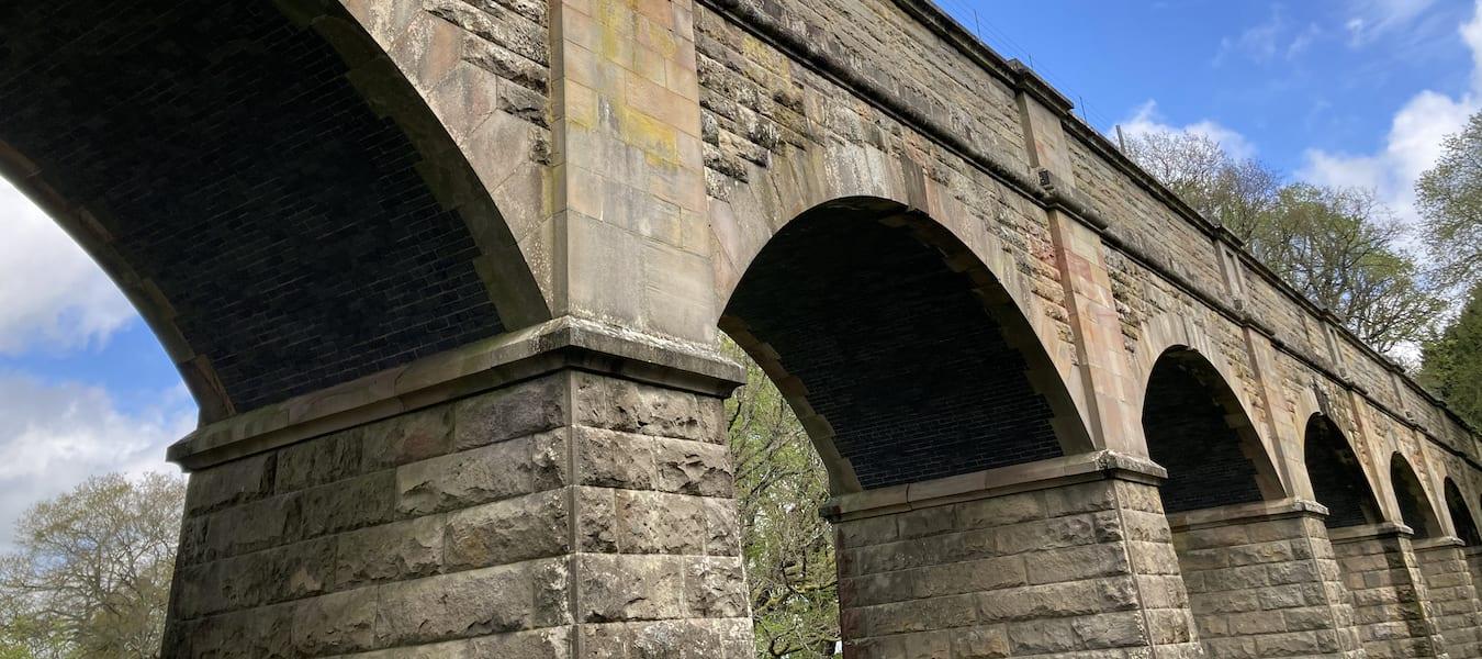 Elan Valley Aqueduct crossing the Deepwood Dingle